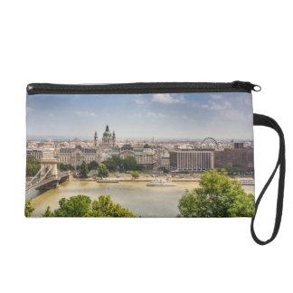 Budapest Summer Cityscape, Hungary Travel Photo Wristlet Clutch