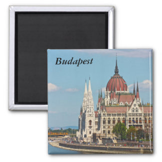 Budapest, the building of the Parliament, Budapest 2 Inch Square Magnet