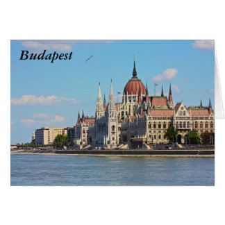 Budapest, the building of the Parliament, Budapest Greeting Card