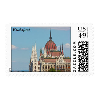 Budapest, the building of the Parliament, Budapest Postage Stamp