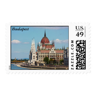 Budapest, the building of the Parliament, Budapest Postage Stamps