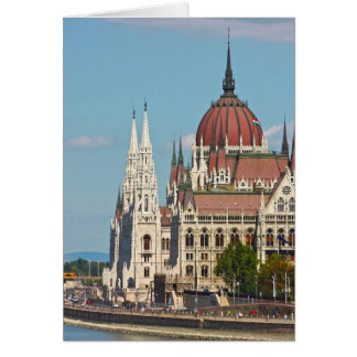 Budapest, the building of the Parliament Greeting Card
