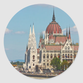 Budapest, the building of the Parliament Classic Round Sticker