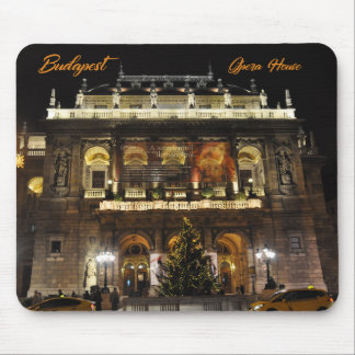Budapest, The Opera House in nocturnal lights Mouse Pad