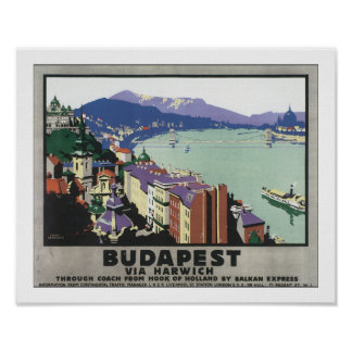 Budapest vía Harwich Posters