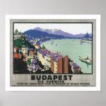 Budapest vía Harwich Póster