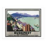 Budapest vía Harwich Tarjeta Postal