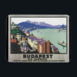 "Budapest via Harwich_Vintage Travel Poster Magnet<br><div class=""desc"">This product features Budapest via Harwich Vintage Travel Poster Artwork.