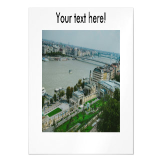 Budapest view magnetic invitations