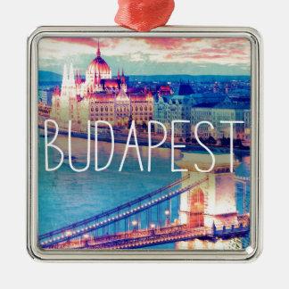 Budapest, vintage poster metal ornament