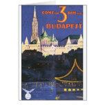 Budapest Vintage Travel Poster Card