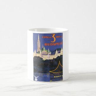 Budapest Vintage Travel Poster Coffee Mug