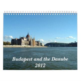 Budapest y el Danubio - 2012 Calendario De Pared