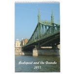 Budapest y el Danubio Calendario De Pared
