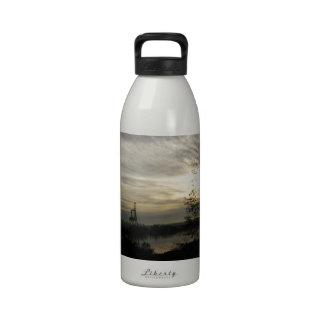Budd Inlet Olympia WA - Winter  Morning Reusable Water Bottles