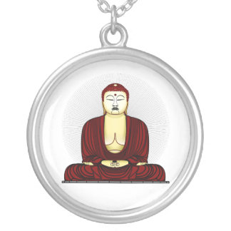 Budda Gautama Buddha Siddhartha Gautama Round Pendant Necklace