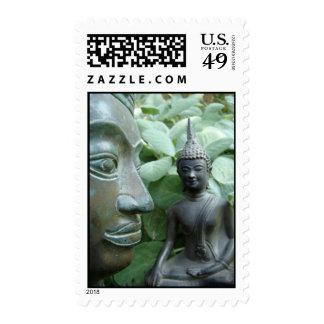 Budda in Nature Stamp