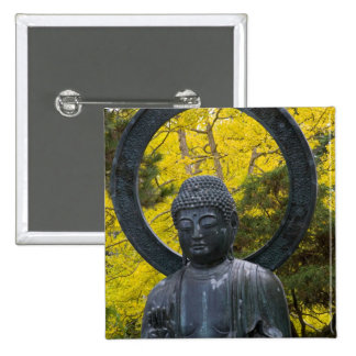 Budda Statue in the Japanese Gardens Golden Button