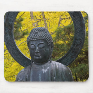Budda Statue in the Japanese Gardens Golden Mouse Pads