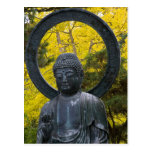 Budda Statue in the Japanese Gardens Golden Postcard