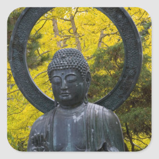 Budda Statue in the Japanese Gardens Golden Square Stickers