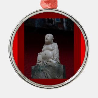 Buddah Antique Sculptrue Red  Gifts by Sharleha Christmas Ornament