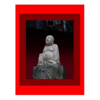 Buddah Antique Sculptrue Red  Gifts by Sharleha Postcard