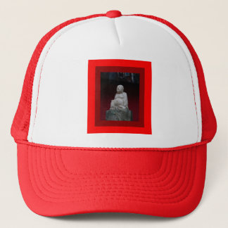 Buddah Antique Sculptrue Red  Gifts by Sharleha Trucker Hat