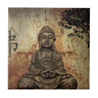 Buddah Azulejo Cuadrado Pequeño