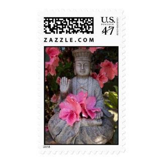 Buddah Beneath Azaleas Stamp