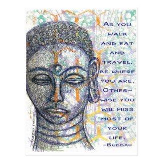 Buddah Postcard Sketch