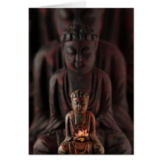 Buddah with Lotus Flower card
