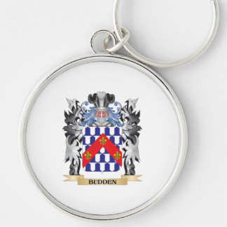 Budden Coat of Arms - Family Crest Silver-Colored Round Keychain