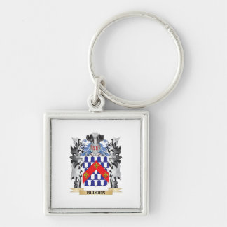Budden Coat of Arms - Family Crest Silver-Colored Square Keychain