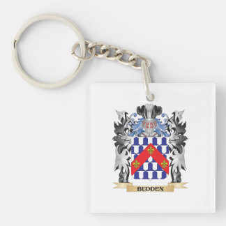 Budden Coat of Arms - Family Crest Single-Sided Square Acrylic Keychain