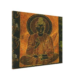 Buddha3 Meditating estiró la impresión de la lona Impresión En Tela