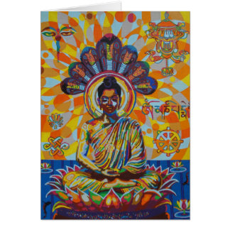 buddha - 2011 as greetingcard card