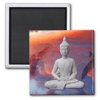 Buddha 2 Inch Square Magnet