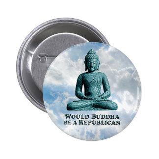 Buddha a Republican - Round Button