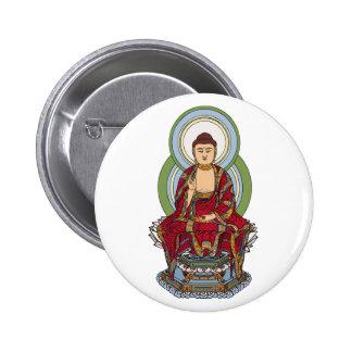 Buddha Abhaya Mudra 2 Inch Round Button