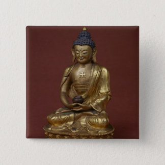 Buddha Amitayus seated in meditation Button