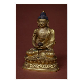 Buddha Amitayus seated in meditation Poster