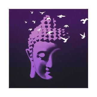 Buddha and birds canvas print
