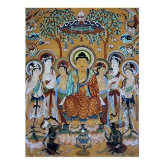 Buddha and Bodhisattvas Dunhuang Mogao Caves Art Postcard