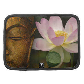Buddha and flower folio planners