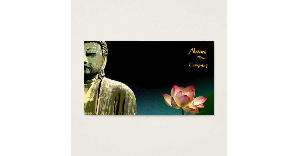 Buddha and lotus Business Card, Holistic Healers Business Card ...