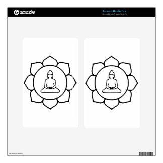 Buddha And Lotus Kindle Fire Skin