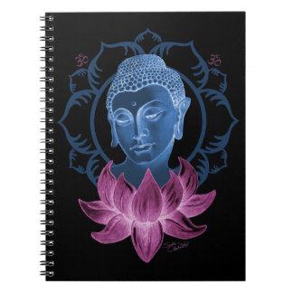 Buddha and Lotus Spiral Notebook