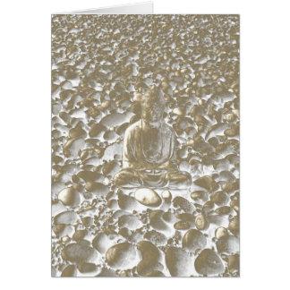 Buddha and Pebbles 8 Card
