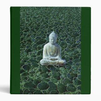 Buddha and Pebbles Binder (Green)